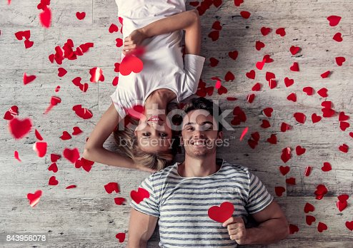 istock Romantic young couple 843956078