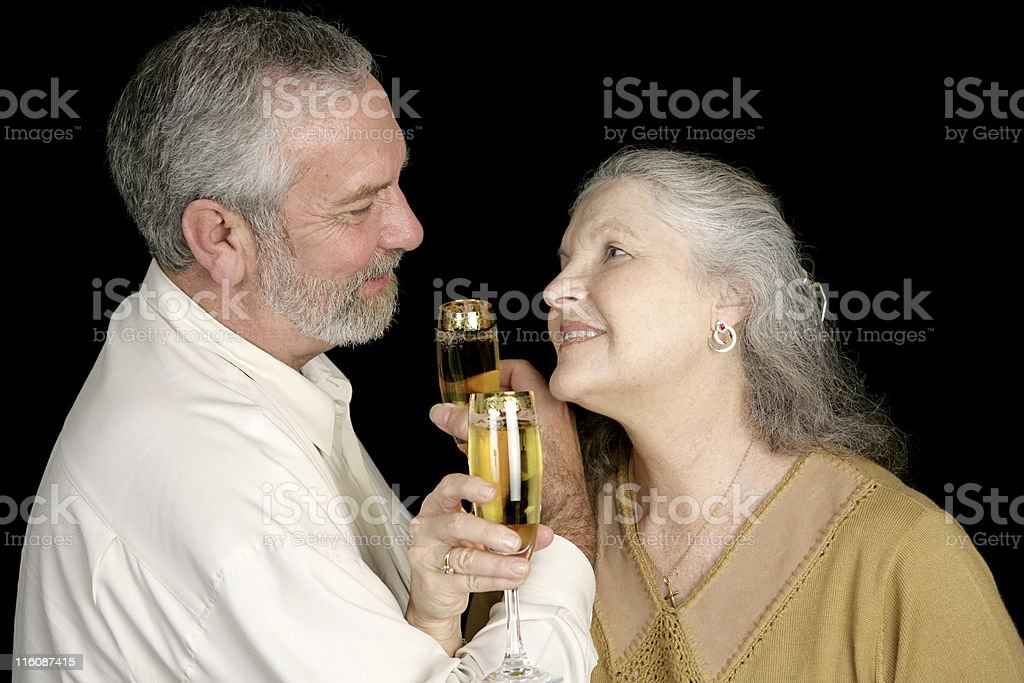 Romatic Champagne Toast royalty-free stock photo