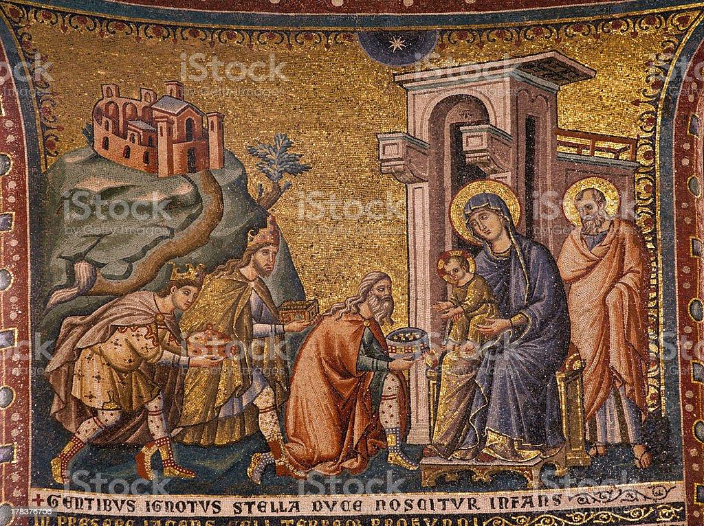 Rome - Adoration of the Magi stock photo