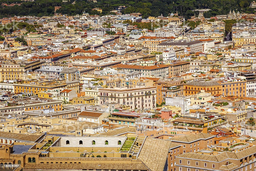 Rome Aerial view royalty-free stock photo