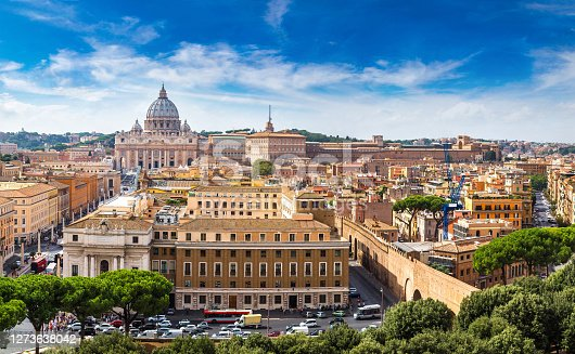 istock Rome and Basilica of St. Peter in Vatican 1273638042