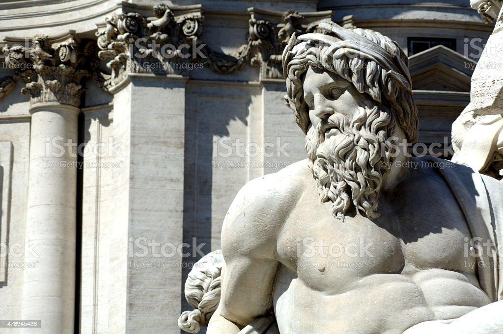 Rome and the staue stock photo