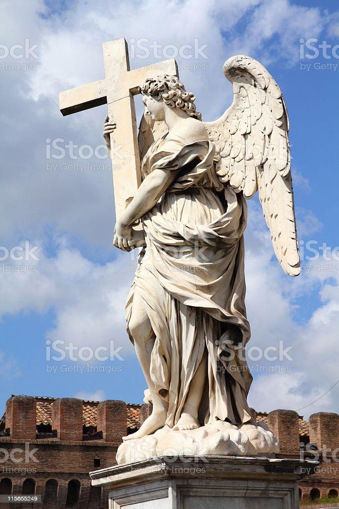 Rome angel royalty-free stock photo