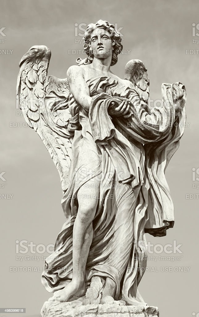 Rome -  Angel with garment stock photo
