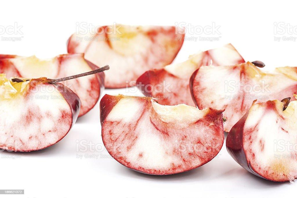 Rome apple slices on white royalty-free stock photo