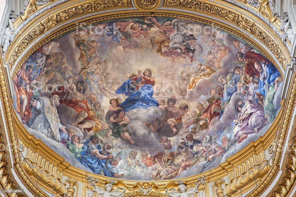 Rome-Assomption de la vierge Marie dans l'église Chiesa Nuova - Photo