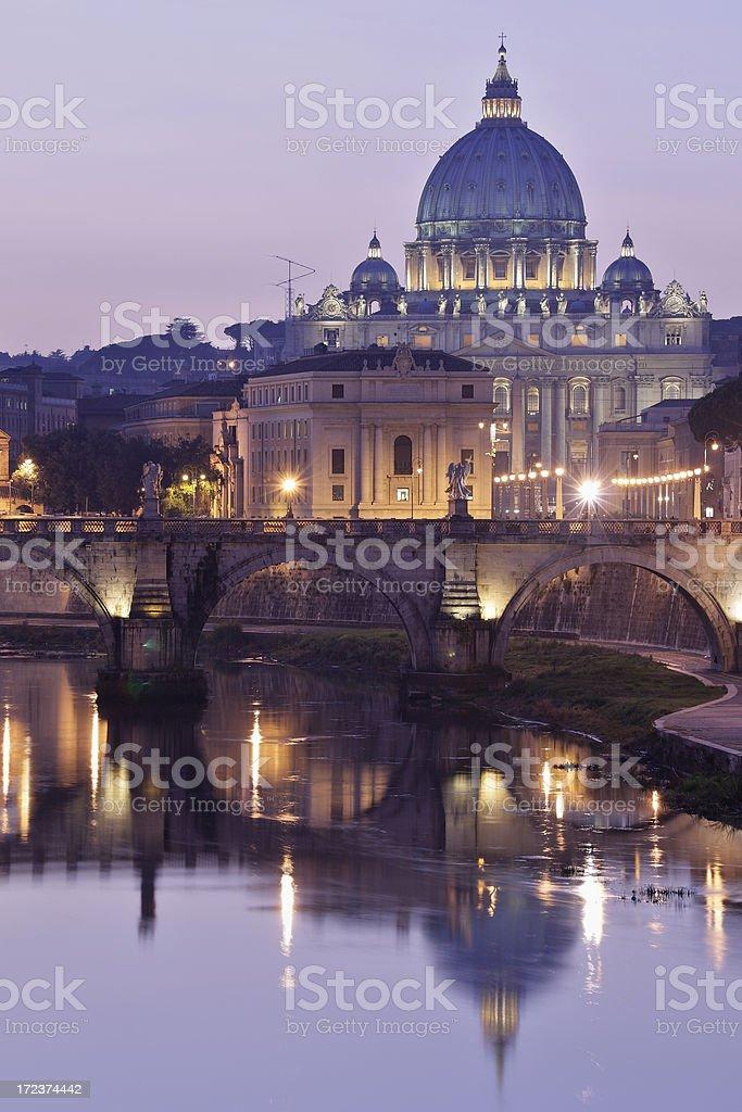 Rome at night royalty-free stock photo