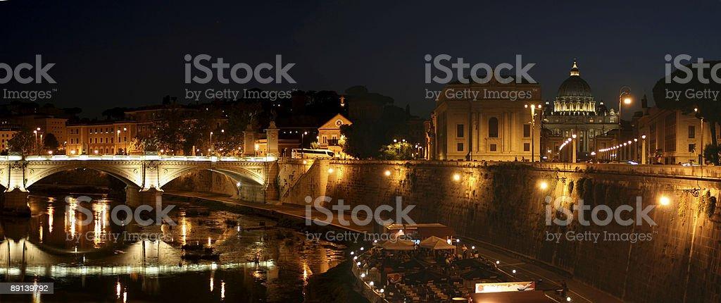 Rome at Night stock photo