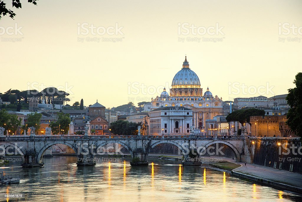 Rome at sunset stock photo