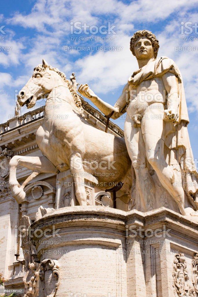 Rome Piazza del Campidoglio Capitoline Hill stock photo