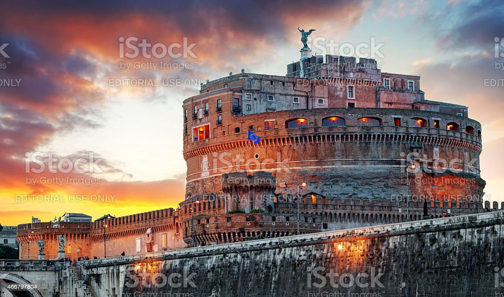 Rome - Castel saint Angelo, Italy stock photo