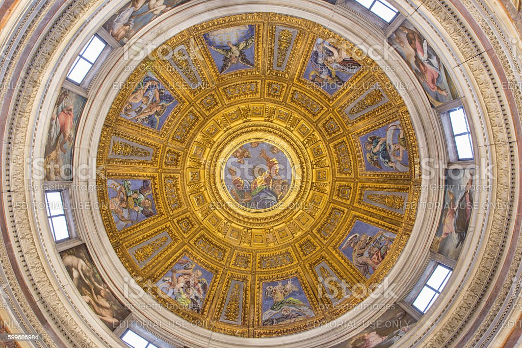 Rome -  Chigi chapel in Santa Maria del Popolo. - foto stock