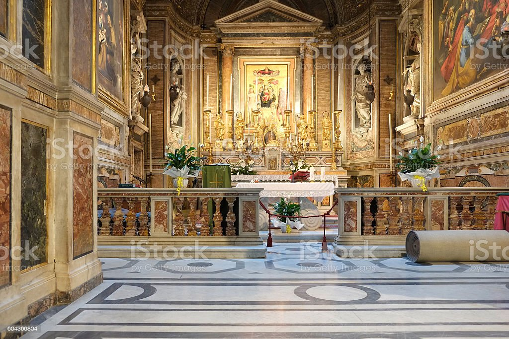 Roma - Church Santa Maria di Loreto stock photo