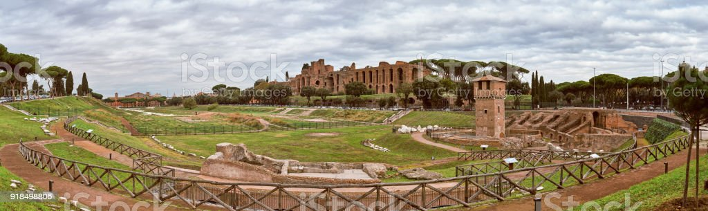 Rome, Circus Maximus stock photo