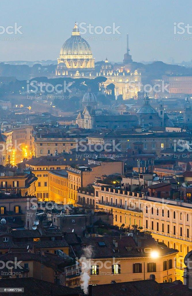 Blick auf das beleuchtete Stadt Rom, Italien. – Foto