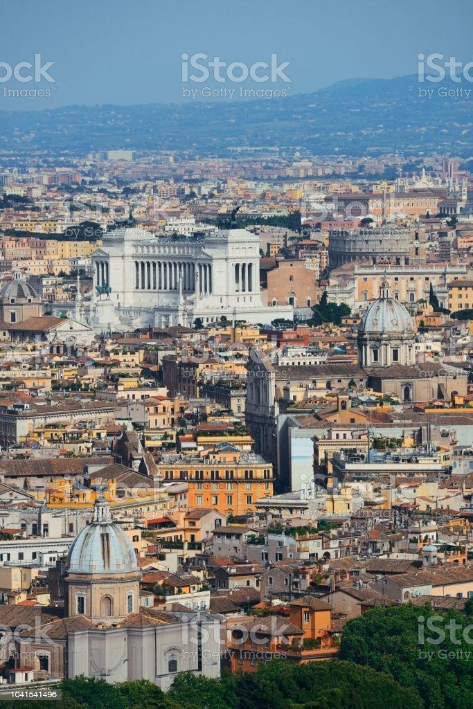 Rome city panoramic view stock photo