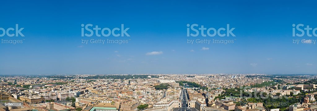 Rome cityscape panorama royalty-free stock photo
