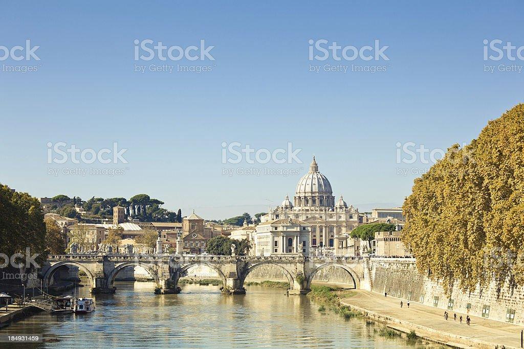 Rome Cityscape, Vatican City stock photo