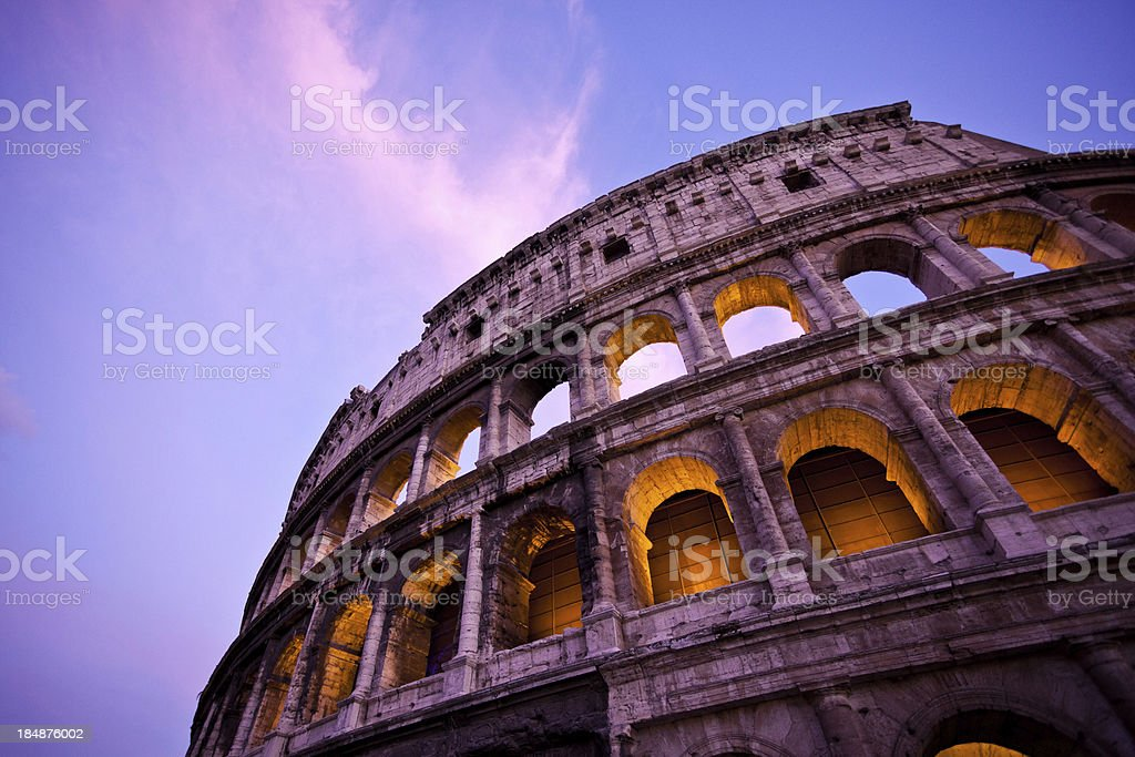 Rome Colosseum at Dusk stock photo