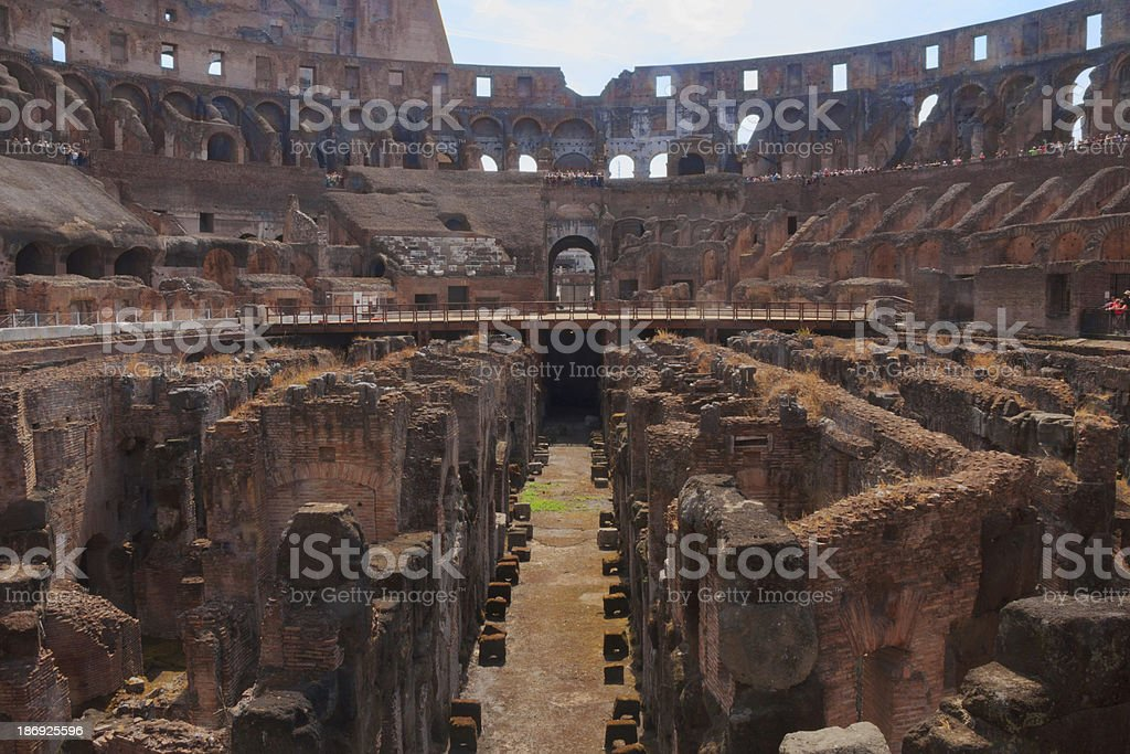 Rome Colosseum, ground view royalty-free stock photo