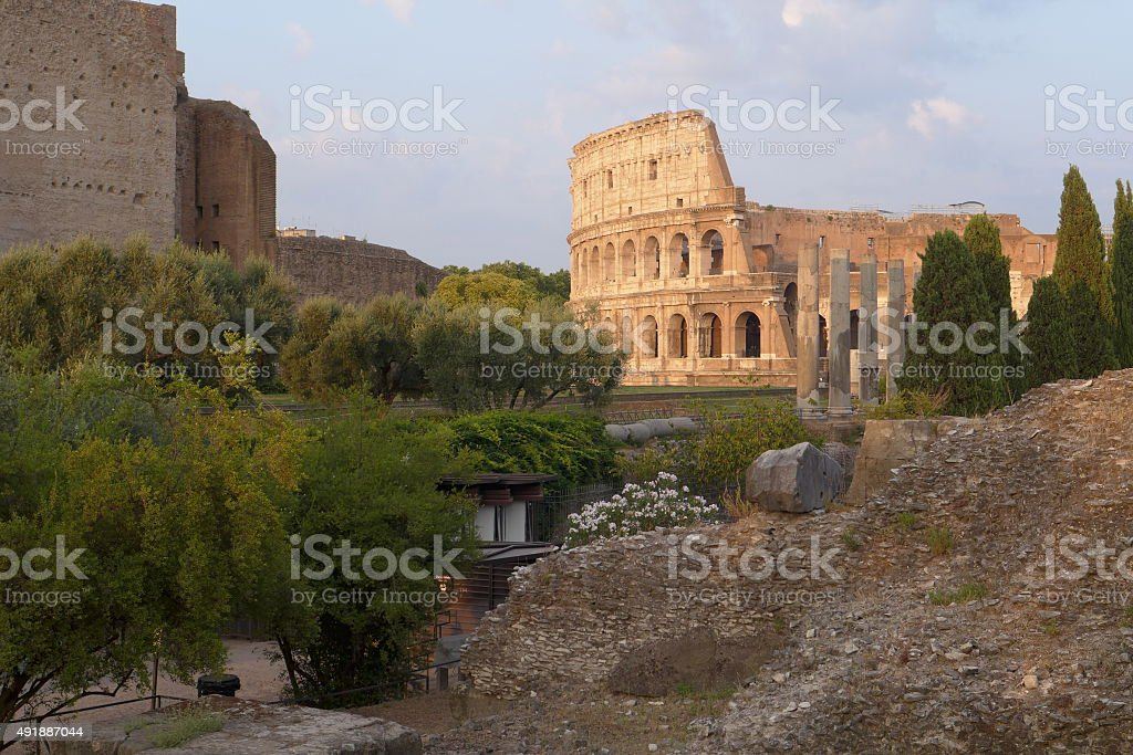 rome colosseum stock photo