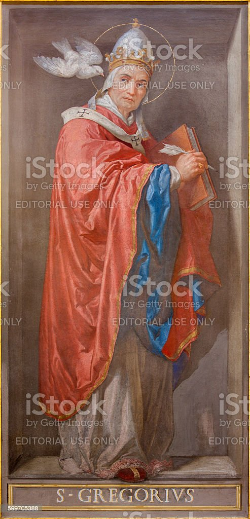 Rome - Doctor of the Church St. Gregory the Great stock photo