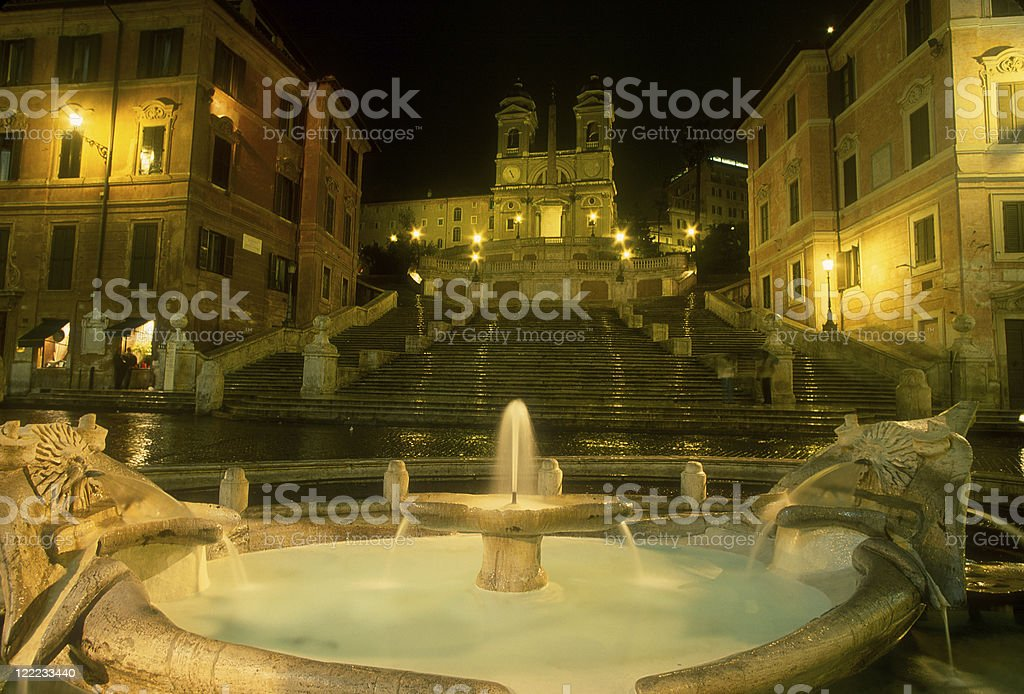 Rome, Fountain and Spanish Steps stock photo