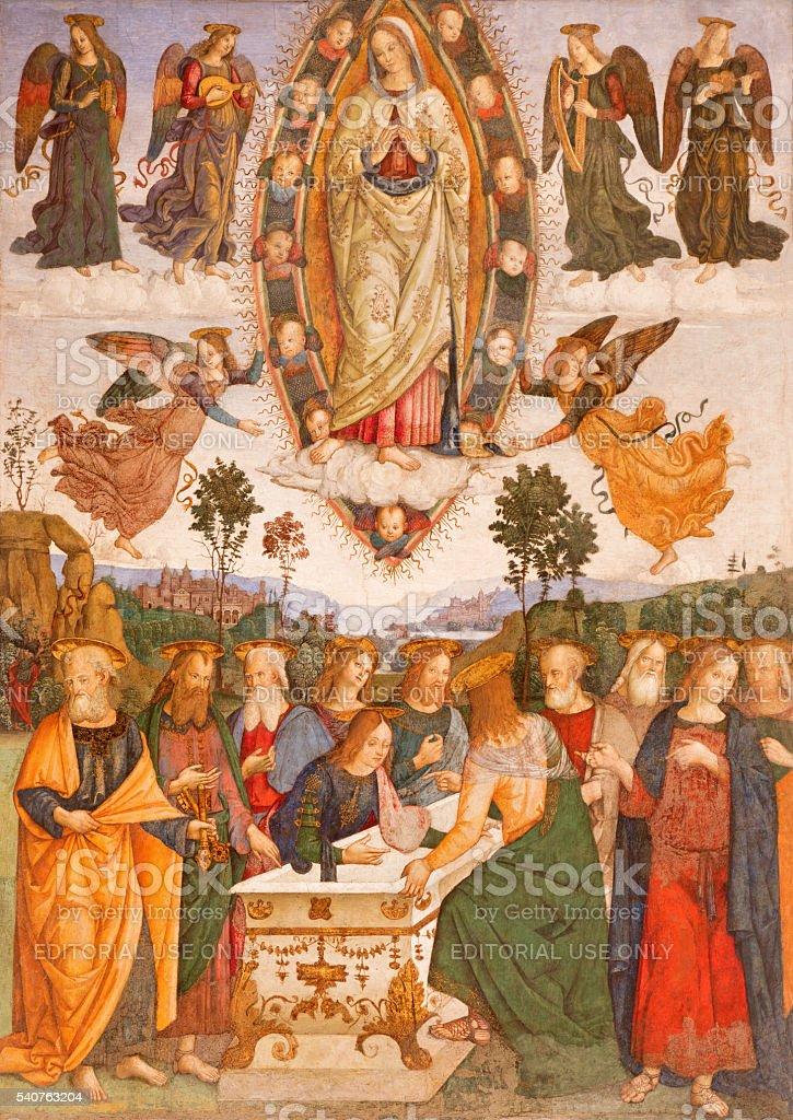 Rome-Fresco de l'Assomption de la Vierge Marie - Photo
