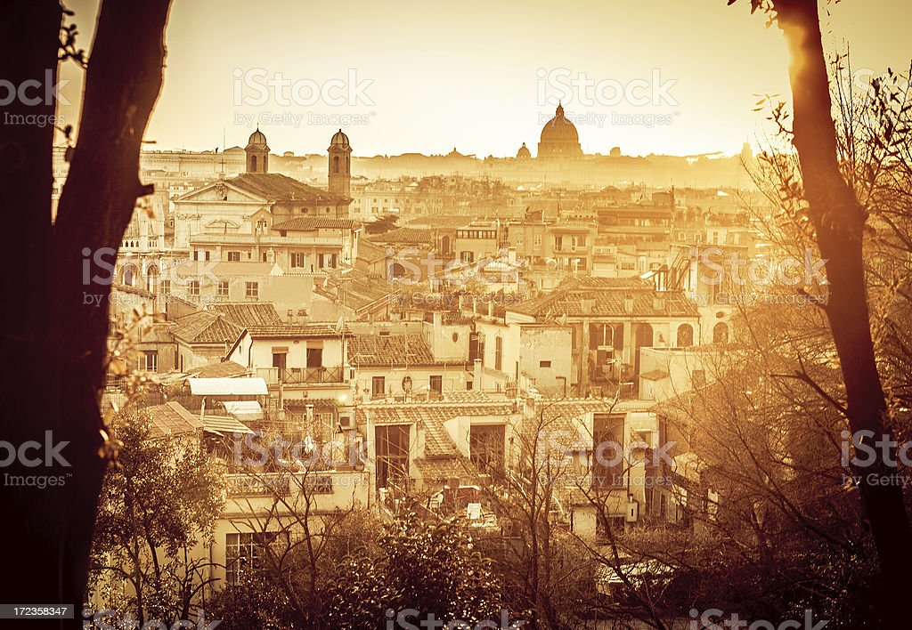 Rome from Pincio Hill royalty-free stock photo