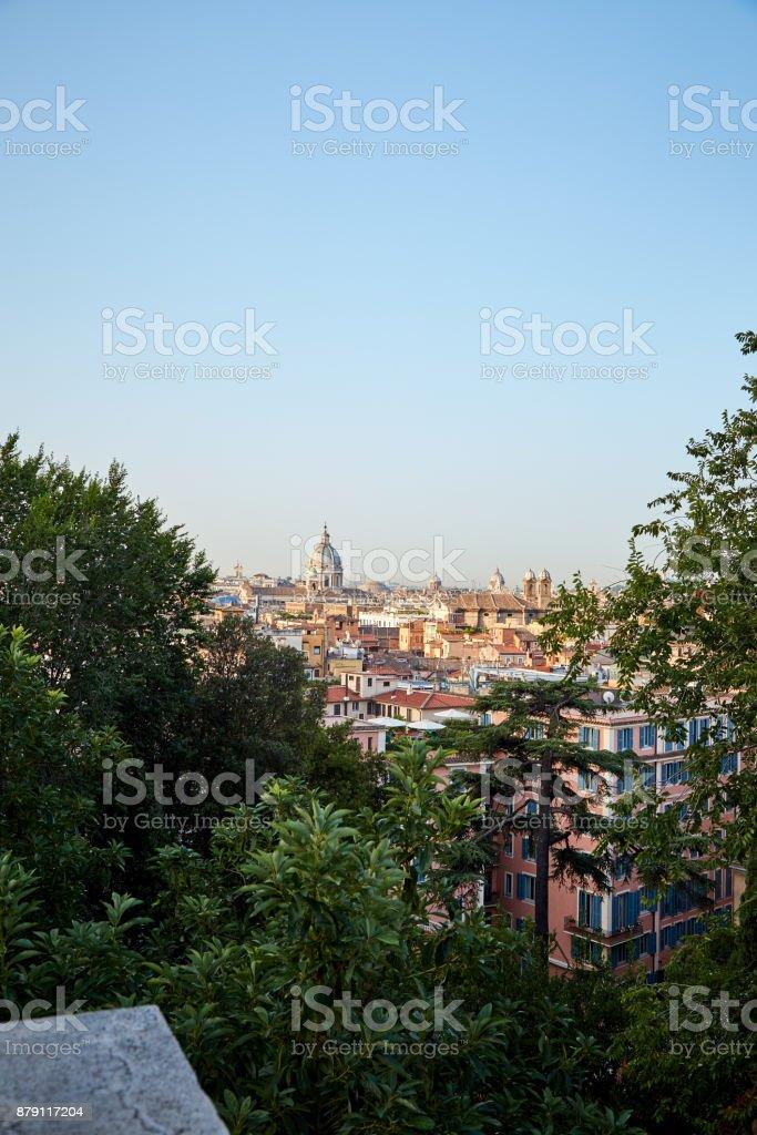 Rome From The Observation Deck Terrazza Del Pincio Stock