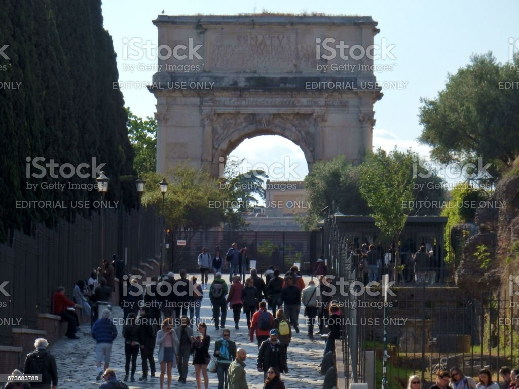 Roma - Scorcio dell'Arco di Tito stock photo