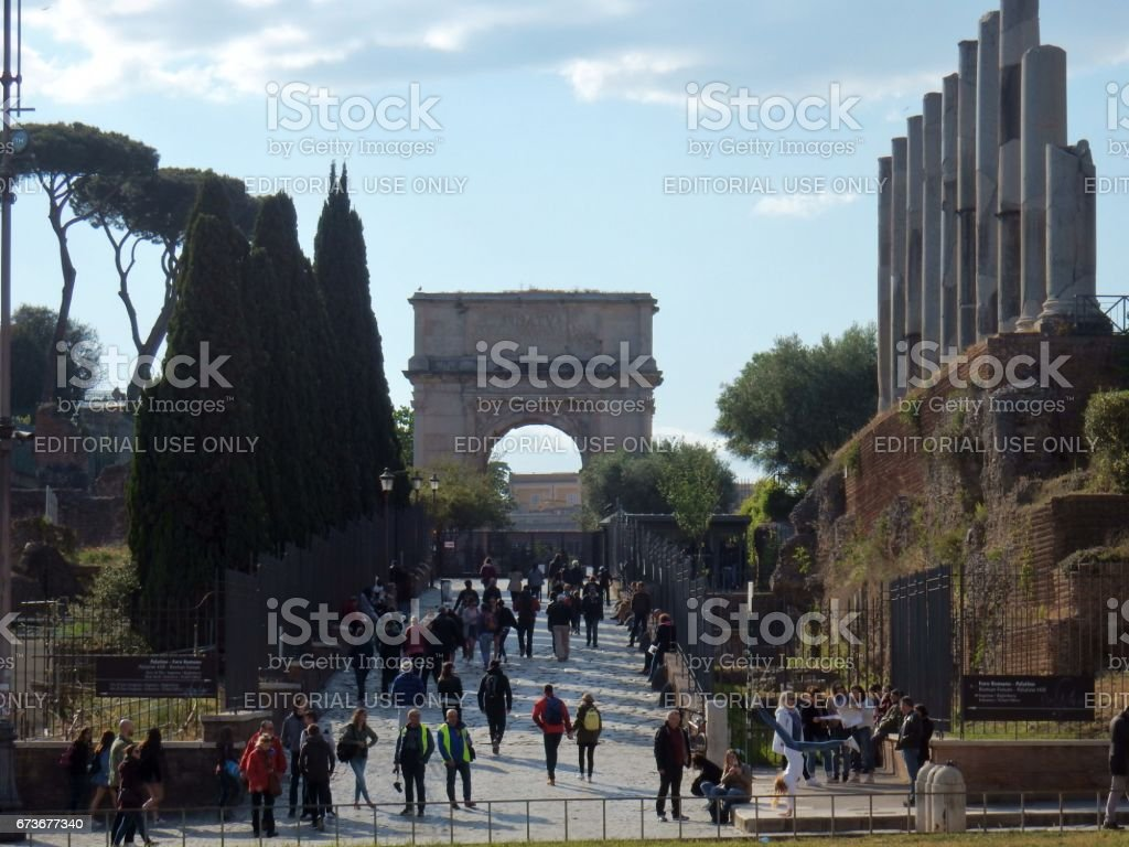 Roma - Scorcio della via Sacra stock photo