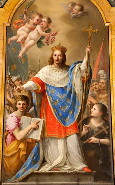 рим-святой франции louis ix большой кроватью (king size) - st louis стоковые фото и изображения