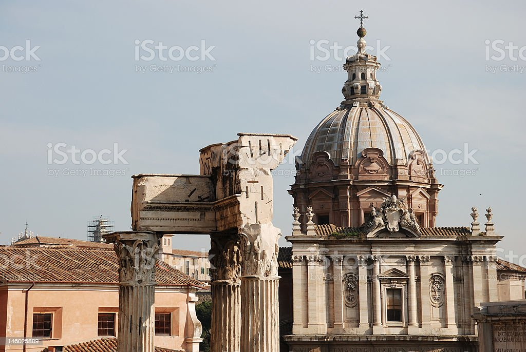 Rome Imperial Forum S. Pietro in Carcere royalty-free stock photo