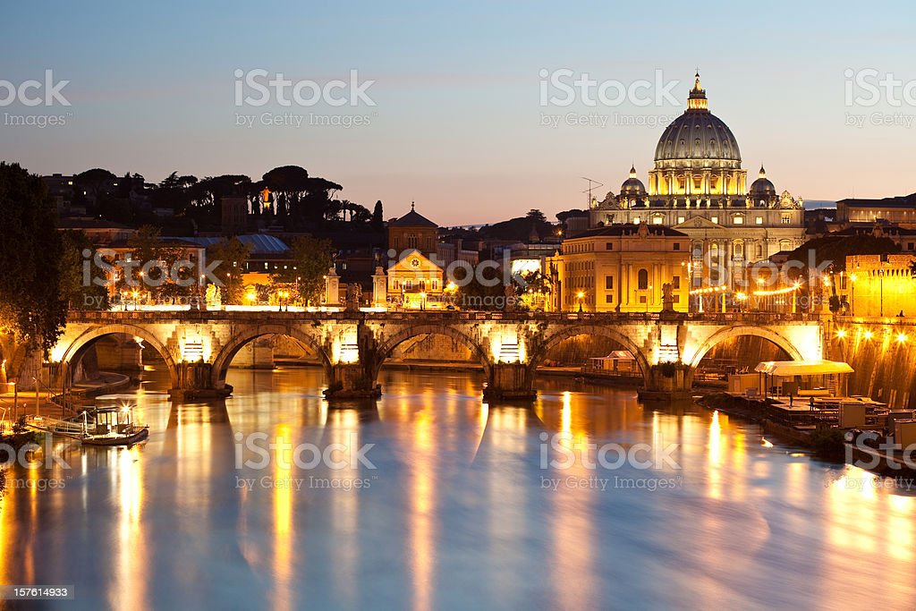 Rome In The Evening royalty-free stock photo