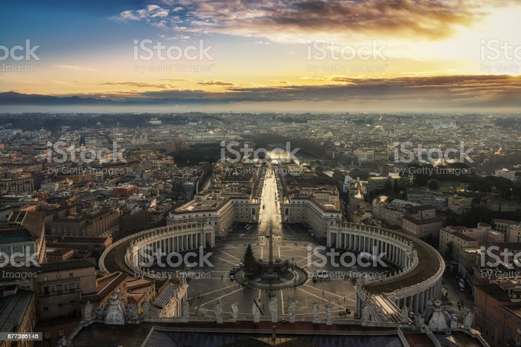 Rome in the morning stock photo