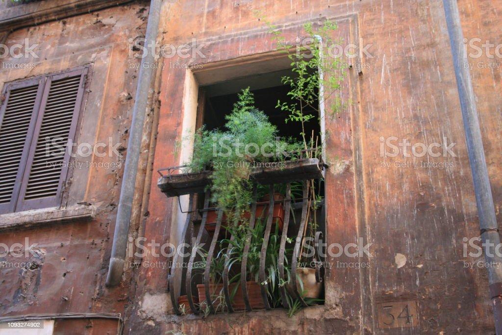 Rome - Italie - Balcon stock photo