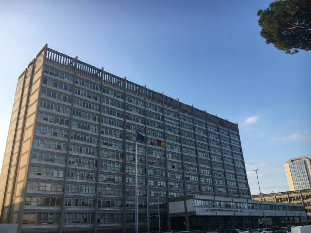 Rome, Italy - 09-04-2019: INPS office in the EUR area - foto stock