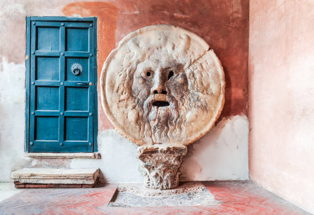 rome, italy - bocca della verita - della stock pictures, royalty-free photos & images