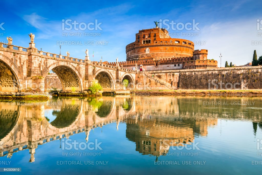 Rome, Italy - Castle Sant Angelo stock photo