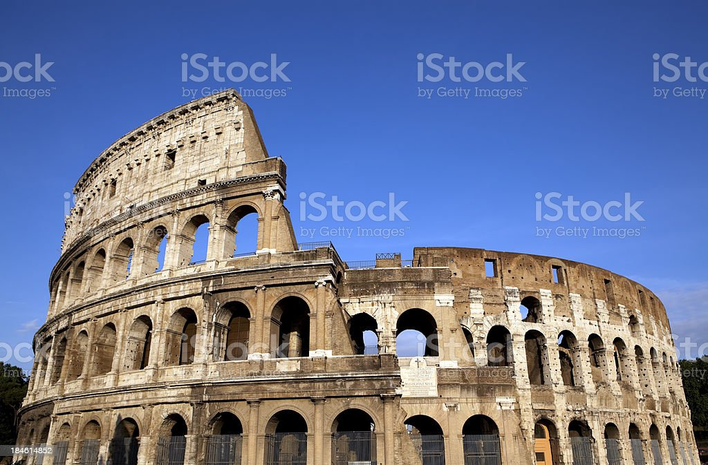 rome italy colloseum stock photo