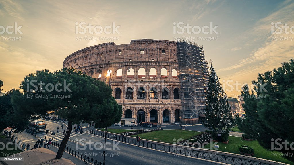 Rome, Italy: Colosseum, Flavian Amphitheatre stock photo