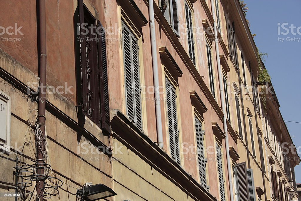Rome, Italy - Houses in the city royalty-free stock photo