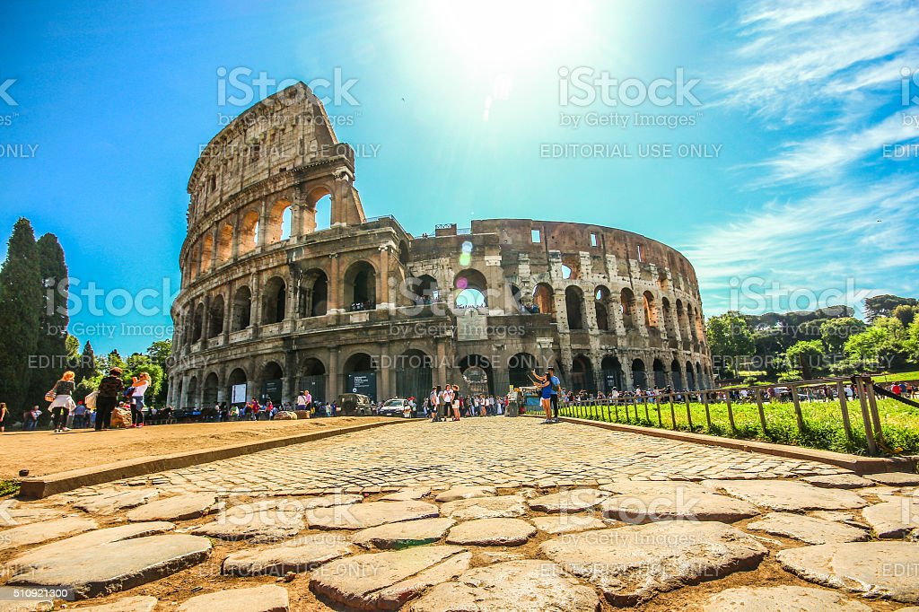 Rome, Italy - May 07, 2015 - Colosseum stock photo