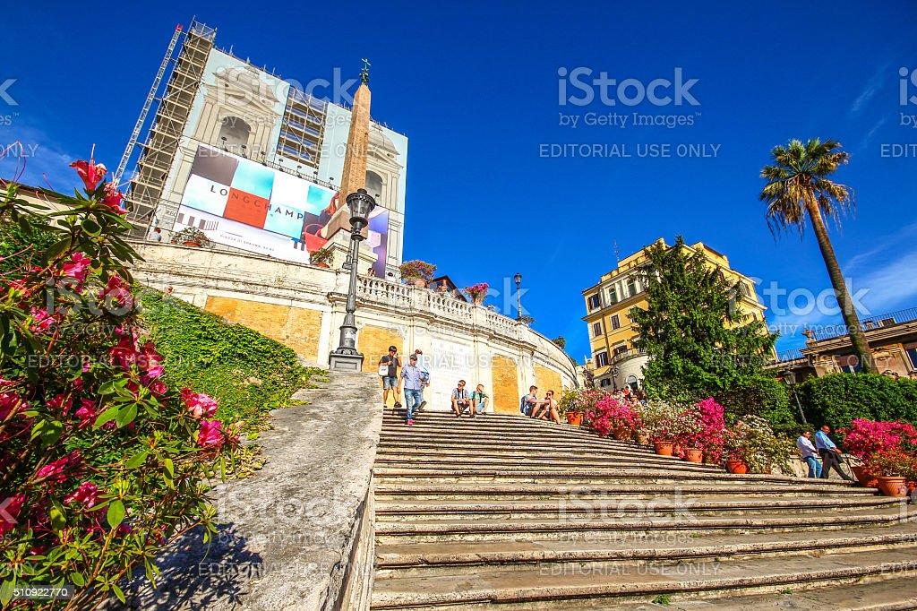 Rome, Italy - May 07, 2015 - Spanish Steps stock photo