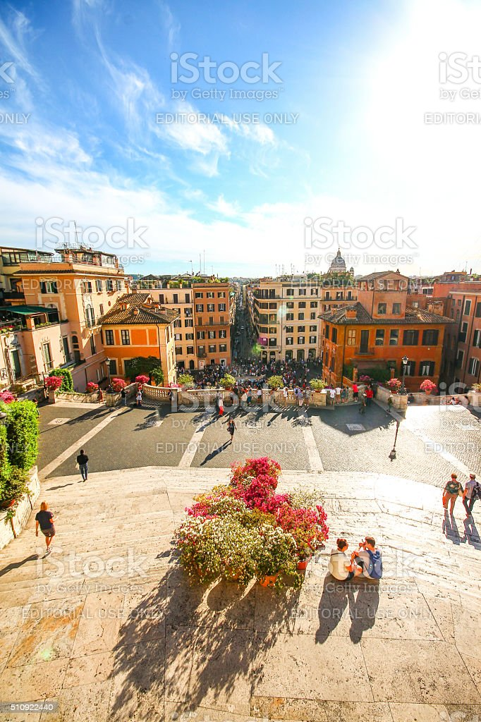 Rome, Italy - May 07, 2015 - Steps in Rome stock photo