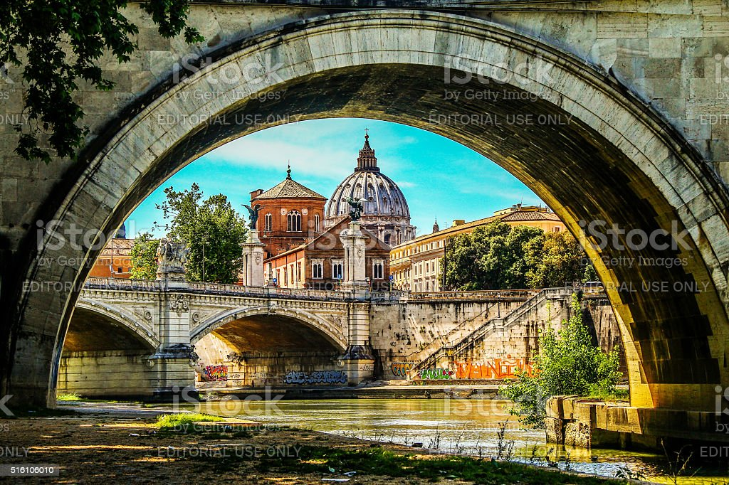 Rome, Italy - May 07, 2015 - View of Rome city stock photo