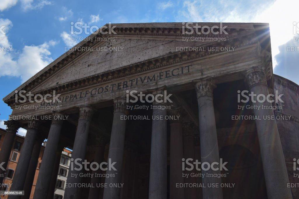 Rome, Italy - October 08, 2016; Pantheon - building exterior stock photo