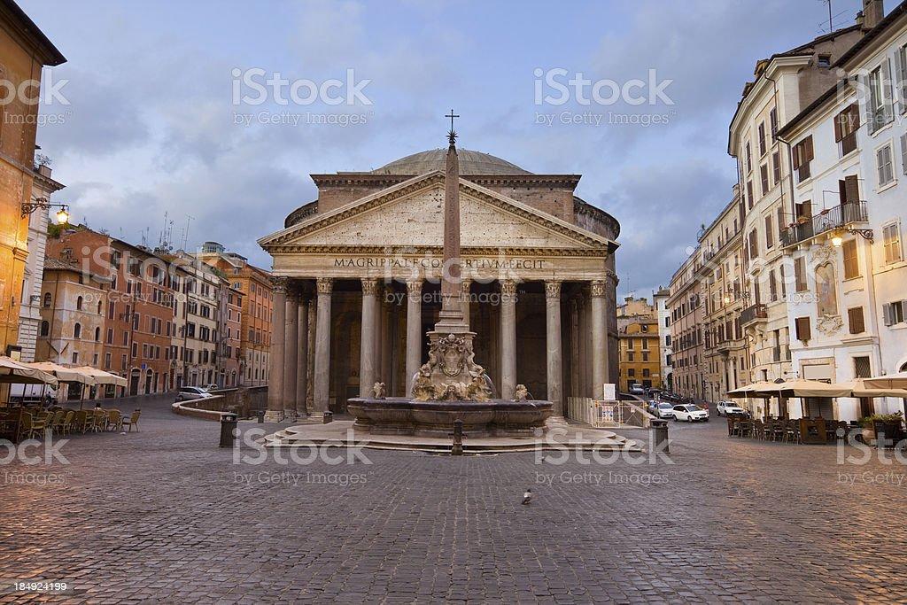 Rome Italy Piazza della Rotonda and Pantheon stock photo