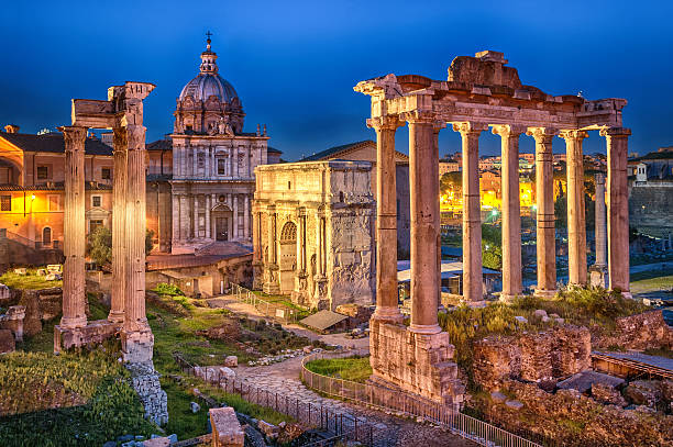 Rome, Italy Ruins of Roman forum on Capitoline hill, Rome, Italy coliseum rome stock pictures, royalty-free photos & images